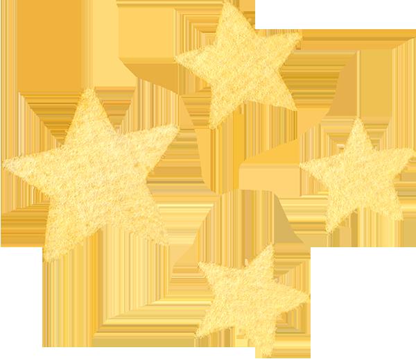 星の水彩イラスト
