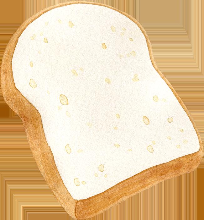 食パン(1枚)の水彩イラスト
