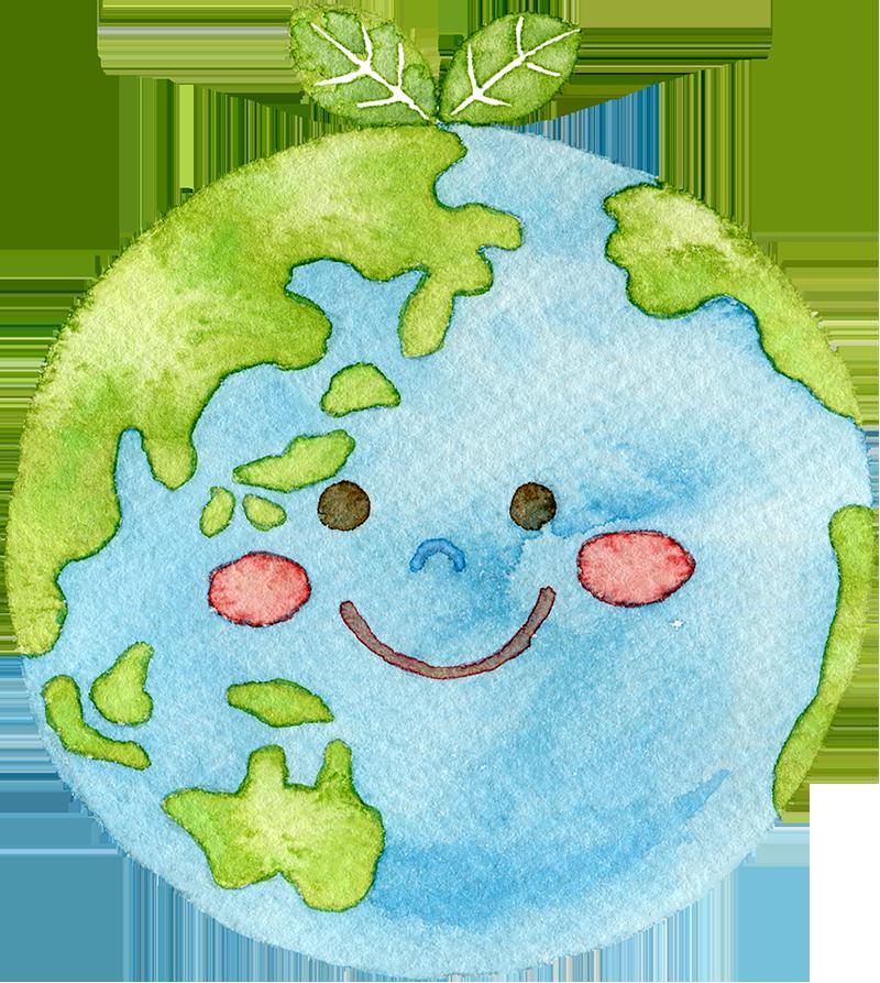 地球の水彩イラスト