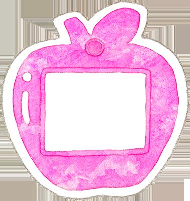 ②ピンク色の名札