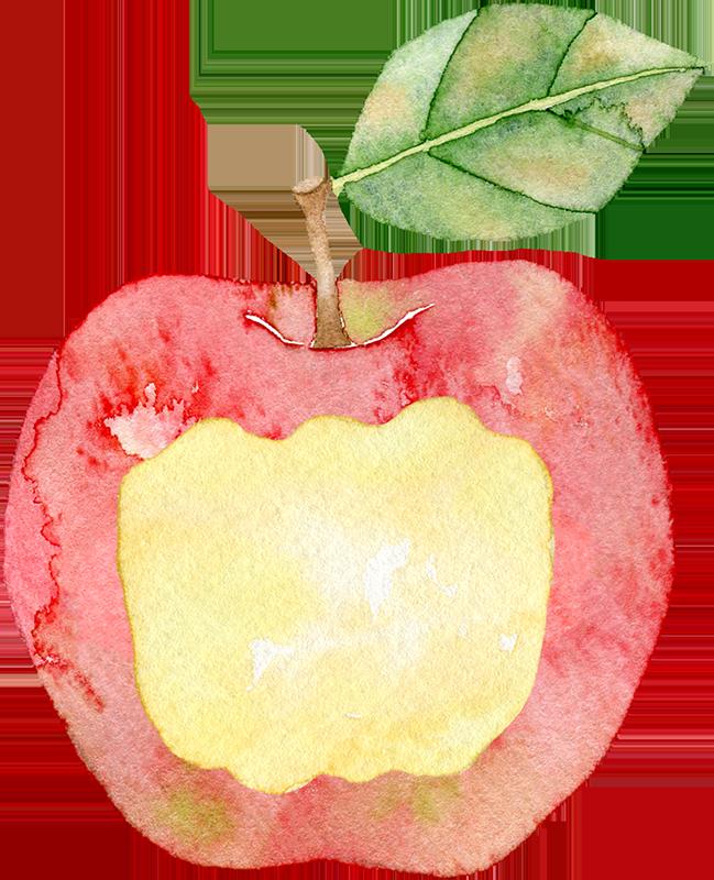 リンゴのかじり跡のフレーム