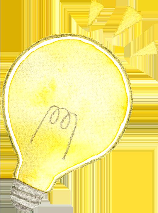 電球の水彩イラスト