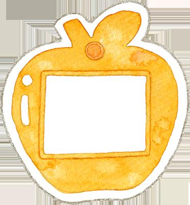 ①オレンジ色の名札