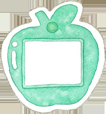 ③ターコイズグリーン色の名札