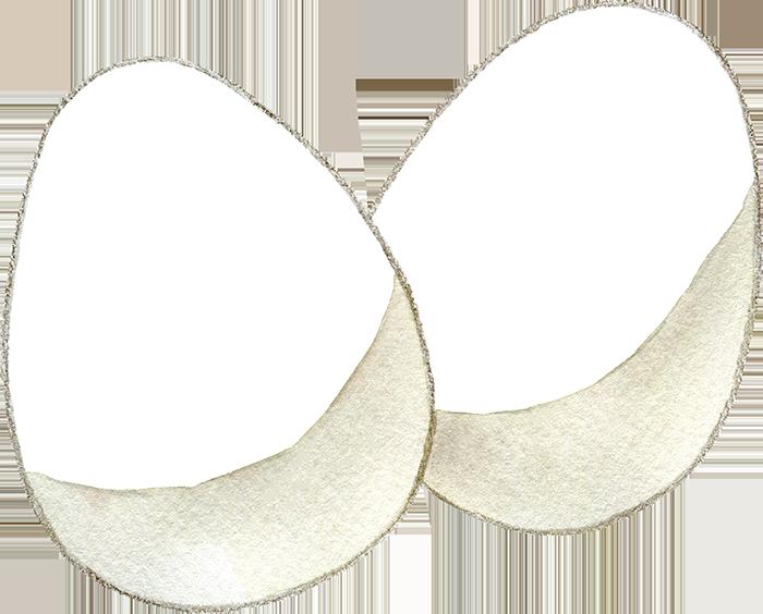 卵の水彩イラスト